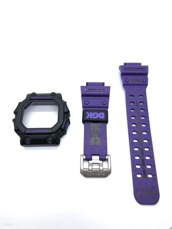 GX-56DGK-1 bezel and strap set Black and purple
