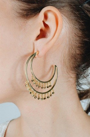 Gold-plated Elcipse earrings