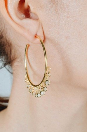 Melanie's gold-plated silver earrings